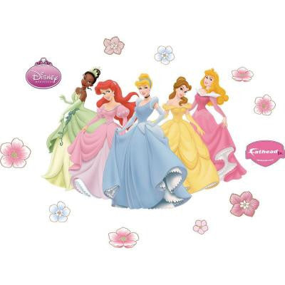 32 in. x 20 in. Disney Princesses Wall Decal