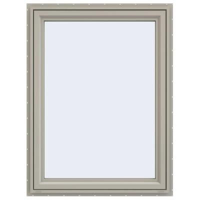35.5 in. x 47.5 in. V-4500 Series Right-Hand Casement Vinyl Window - Tan