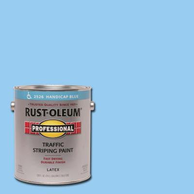 1 gal. Handicap Blue Flat Traffic Striping Paint (Case of 2)
