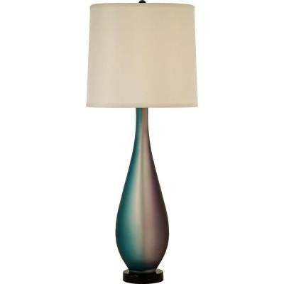 Oneal 32.5 in. Ebony Lacquer Table Lamp