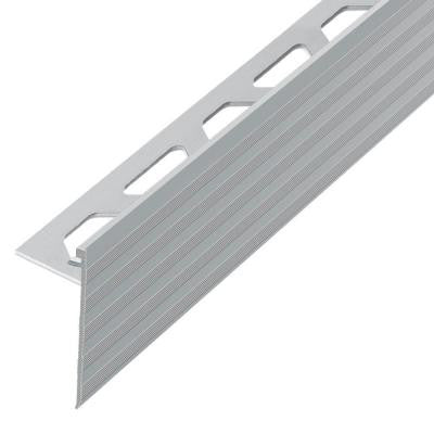 Schiene-Step Satin Anodized Aluminum 5/16 in. x 8 ft. 2-1/2 in. Metal Stair Nose Tile Edging Trim