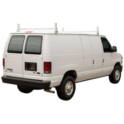 Heavy Duty Van Ladder Rack in White