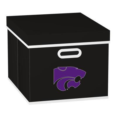 College STACKITS Kansas State University 12 in. x 10 in. x 15 in. Stackable Black Fabric Storage Cube