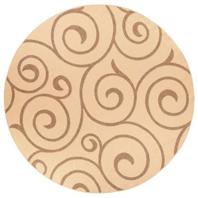 Whirl Cocoa and Natural 8 ft. 6 in. Round Area Rug