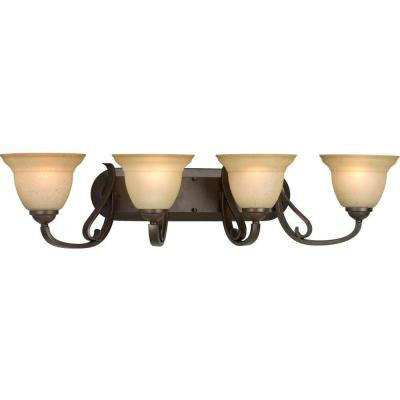 Torino Collection 4-Light Forged Bronze Bath Light