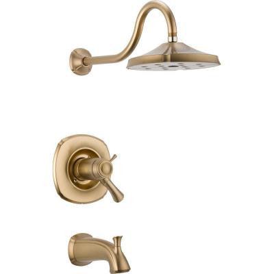 Addison TempAssure 17T Series 1-Handle Tub and Shower Faucet Trim Kit Only in Champagne Bronze (Valve Not Included)