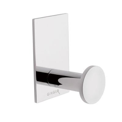 Surface Single Robe Hook in Polished Chrome