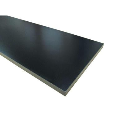 3/4 in. x 16 in. x 36 in. Black Thermally-Fused Melamine Shelf