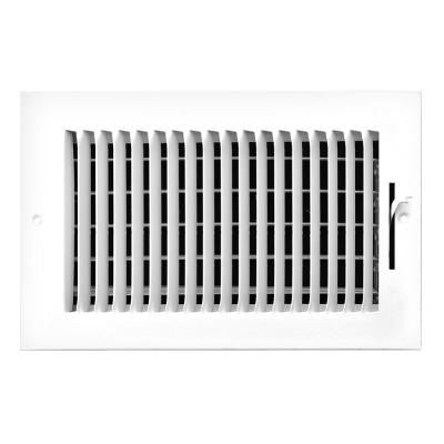 8 in. x 4 in. 1-Way Left Side Wall/Ceiling Register