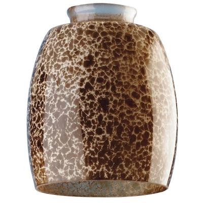 5-3/8 in. Handblown Giraffe Spot Shade with 2-1/4 in. Fitter and 4-1/2 in. Width