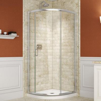 Solo 36-3/8 in. W x 36-3/8 in. D x 72 in. H Framed Sliding Shower Enclosure in Chrome