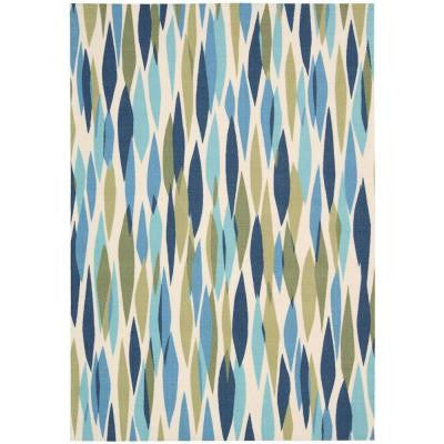 Bits and Pieces Seaglass 5 ft. 3 in. x 7 ft. 5 in. Area Rug