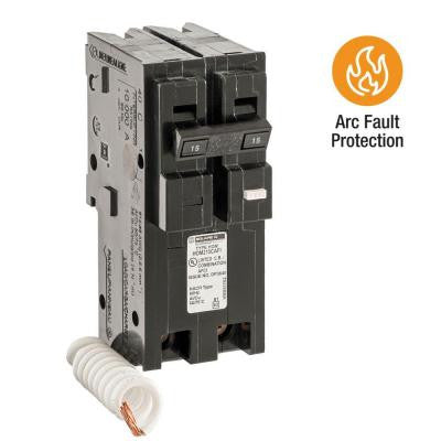 Homeline 15 Amp 2-Pole CAFCI Circuit Breaker