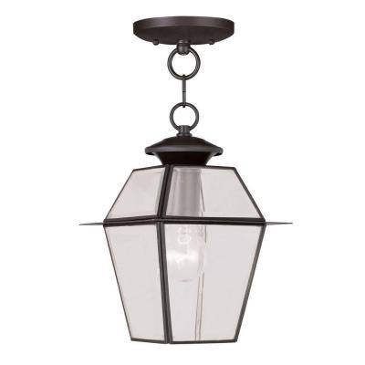 Providence 1-Light Bronze Outdoor Hanging Lantern