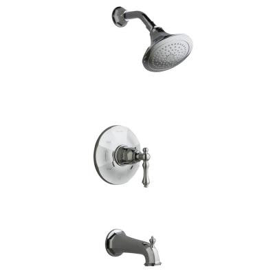 Kelston Pressure-Balancing Bath and Shower Faucet Trim in Polished Chrome (Valve Not Included)