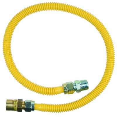 Safety+PLUS 5/8 in. Female Flare Excess Flow Valve x 3/4 in. MIP x 36 in. Gas Connector 5/8 in. O.D. (125,000 BTU)