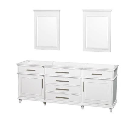 Berkeley 80 in. Vanity Cabinet with Mirror in White