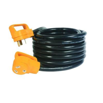 25 ft. 30-Amp Power Grip Electrical Power Cord with Handle