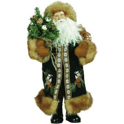 15 in. Chickadee Claus with Tree