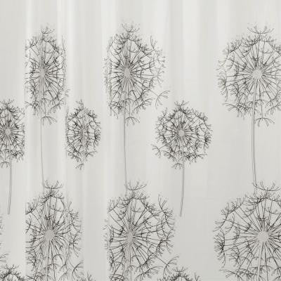 Allium Shower Curtain in Gray/Black