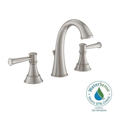 Ashville 8 in. Widespread 2-Handle High-Arc Bathroom Faucet with Microban Protection in Spot Resist Brushed Nickel