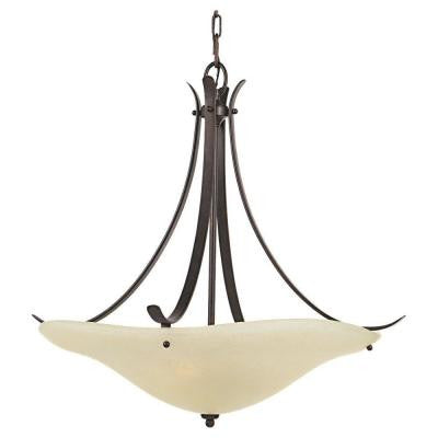 Morningside 3-Light Grecian Bronze Uplight Chandelier