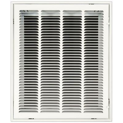 16 in. x 20 in. Return Air Vent Filter Grille with Fixed Blades, White