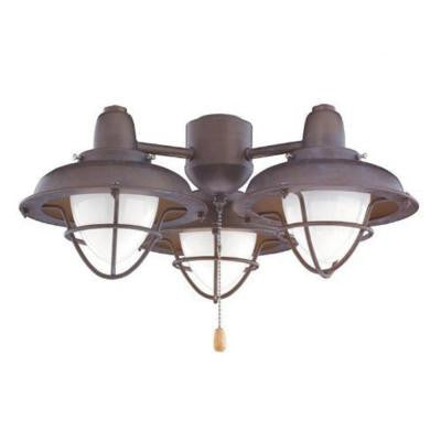 Zephyr 3-Light Venetian Bronze Ceiling Fan Light Kit