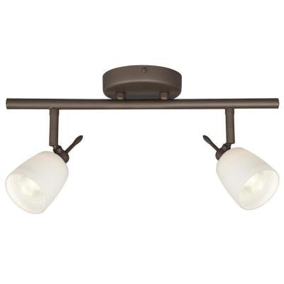Negron 2-Light Oil Rubbed Bronze Track Lighting with Directional Heads
