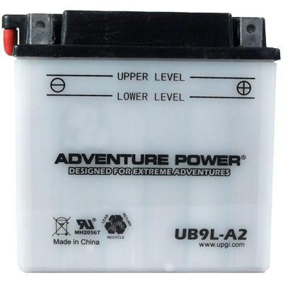 Conventional Wet Pack 12-Volt 9 Ah Capacity D Terminal Battery