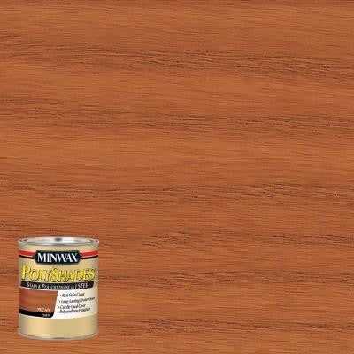 8 oz. PolyShades Pecan Satin Stain and Polyurethane in 1-Step (4-Pack)