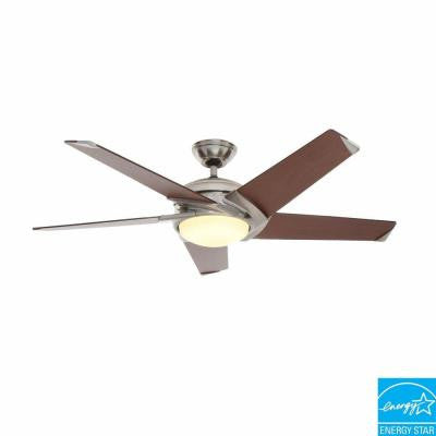 Stealth 54 in. Brushed Nickel Ceiling Fan