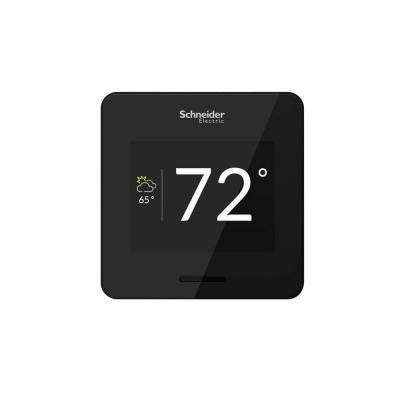Wiser Air Wi-Fi Smart Programmable Thermostat with Comfort Boost and Touch Screen Display in Black
