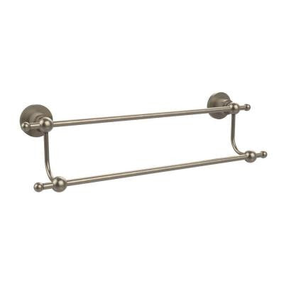 Astor Place Collection 30 in. Double Towel Bar in Antique Pewter