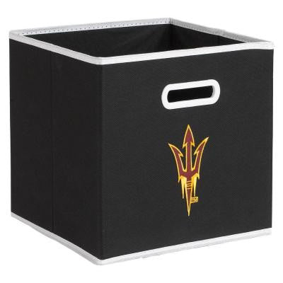 College STOREITS Arizona State University 10-1/2 in. W x 10-1/2 in. H x 11 in. D Black Fabric Storage Drawer