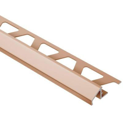 Reno-U Satin Copper/Bronze Anodized Aluminum 5/16 in. x 8 ft. 2-1/2 in. Metal Reducer Tile Edging Trim