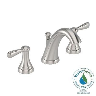 Marquette 8 in. Widespread 2-Handle Mid-Arc Bathroom Faucet in Satin Nickel