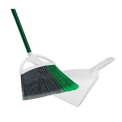 Large Precision Angle Broom with Dust Pan