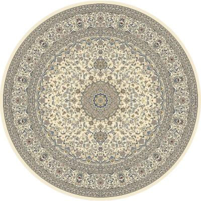 Nicholson Ivory 5 ft. 3 in. x 5 ft. 3 in. Round Indoor Area Rug
