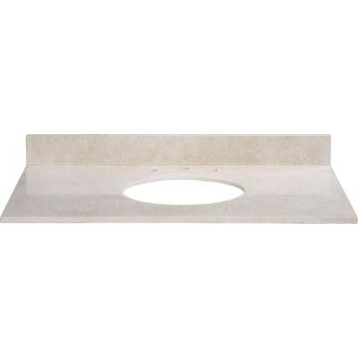 49 in. Marble Vanity Top in Galala Beige without Basin