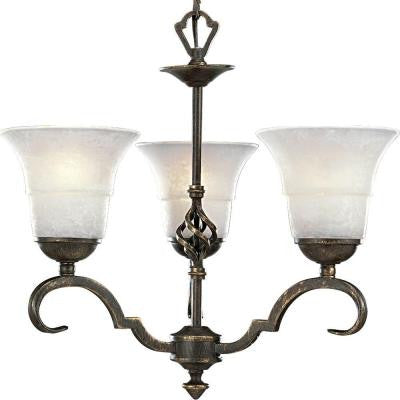 Melbourne Collection 3-Light Espresso Chandelier
