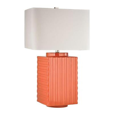 Orange 28 in. Orange Table Lamp with Shade