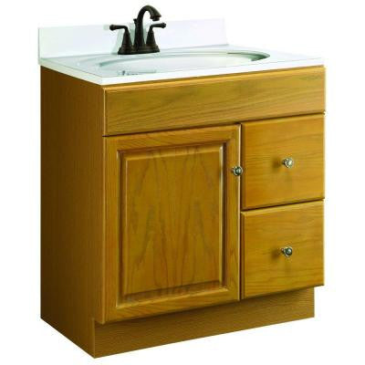 Claremont 30 in. W x 21 in. D Unassembled Vanity Cabinet Only in Honey Oak