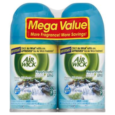 Freshmatic Ultra 6.17 oz. Fresh Waters Automatic Air Freshener Spray Refill (2-Pack)