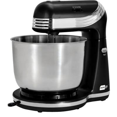 Dash 3 Qt. Go Petite Stand Mixer in Black