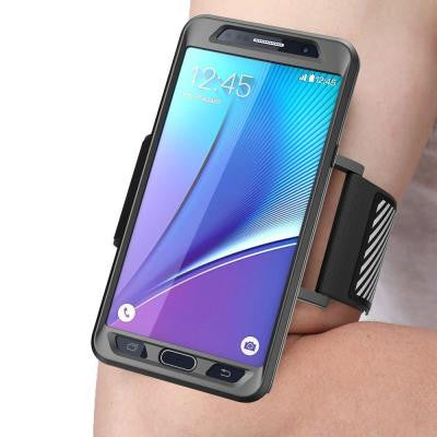 Galaxy Note 5 Flexible Sport Armband and Case Combo - Black