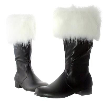 Medium Size 8-10 Faux Fur Trim Adult Santa Boots