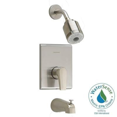 Studio 1-Handle Tub and Shower Faucet Trim Kit in Satin Nickel (Valve Sold Separately)