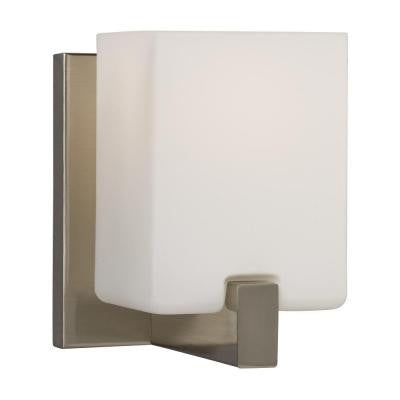 Negron 1-Light Brushed Nickel Incandescent Sconce