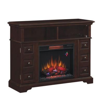 Bellbrook 48 in. Media Console Electric Fireplace in Summer Cherry